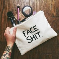 """FACE SHIT"" Make Up Bag/ Travel Organizer"