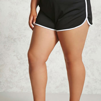 Plus Size Mesh Dolphin Shorts