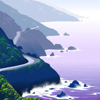 Big-Sur Art Print by Tom Carlos