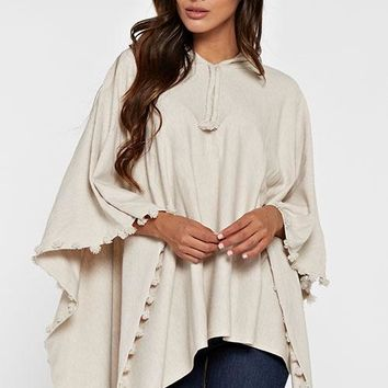 Cream Colored Poncho Womens Sweaters, Sweatshirts, Hoodies, Pullovers,Cardigans, and Capes