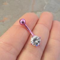 Purple Belly Button Ring Jewelry