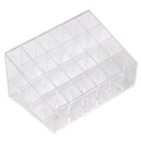 Leegoal Clear Cosmetic Stand 24 Lipstick Organizer Nail Polish Makeup Case Display Rack Holder (Style C)