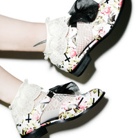 Iron Fist Kill Me Later Oxford Flats Black