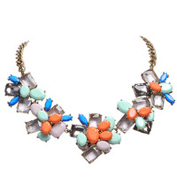 Colorful Beauty Choker Metal Chain Necklace