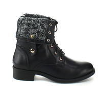 Refresh Women's 'Dason-03' Lace-up Mid-calf Combat Boots