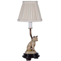Small Porcelain Cat Lamp by LampStoreOriginals