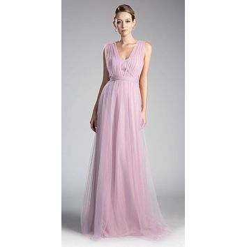 Tulle Infinity Style Long Bridesmaids Dress French Lilac