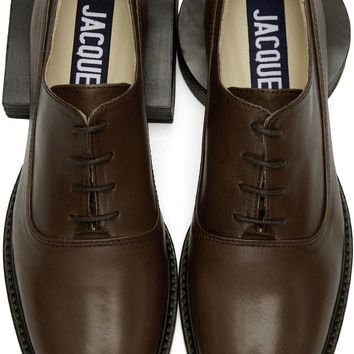 Brown 'Les Chaussures Clown' Oxfords