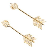 Shooting Arrow Earrings Brass