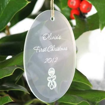 Glass Ornament - Oval Shaped