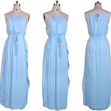 Women Sexy Holiday Summer Boho Evening Party Dress Beach Long Maxi Dress  D_L = 1712905668