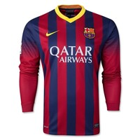 Barcelona 13/14 LS Home Soccer Jersey