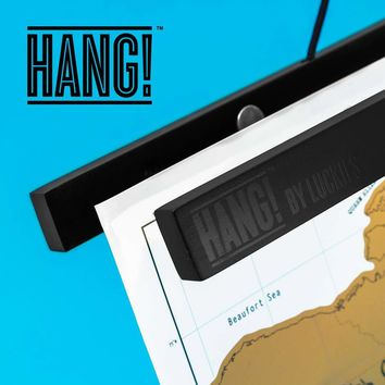 Luckies of London - Hang! Magnetic Hanging System for Scratch Maps