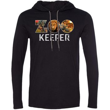 Zookeeper African Savanna Animal Print 987 Anvil LS T-Shirt Hoodie