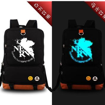 Japanese Anime Bag 2017  Neon Genesis Evangelion EVA Luminous Backpacks School Bags for Teenagers Men Women Rucksack Laptop Shoulder Bags AT_59_4