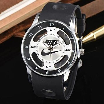 Nike Trending Women Men Stylish Movement Watch Lovers Wrist Watch Black I12475-1