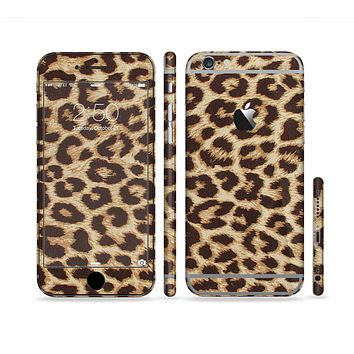 The Simple Vector Cheetah Print Sectioned Skin Series for the Apple iPhone 6 Plus