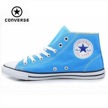 LMFUG7 Original Converse Chuck Taylor All Star sneakers powderblue women high canvas shoes fo