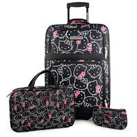 Hello Kitty 3-Piece Luggage Ensemble