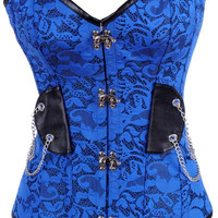 Overbust Corset Chain Decor Top