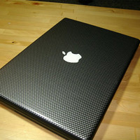 "Carbon Fibre Decal Skin for Macbook 15"" PRO ONLY - Full Body 3 Piece Set"