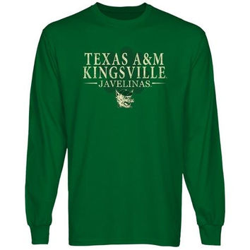 Texas A&M Kingsville Javelinas St. Paddy's Long Sleeve T-Shirt - Green