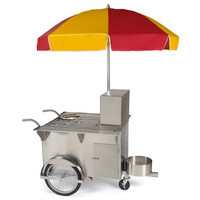 The Authentic New York Hot Dog Vendor Cart - Hammacher Schlemmer