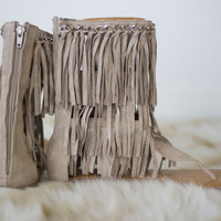 Not Rated Namaste Sandal in Taupe