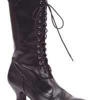 Women's 2.5 Inch Victorian Boot (8,Black PU)
