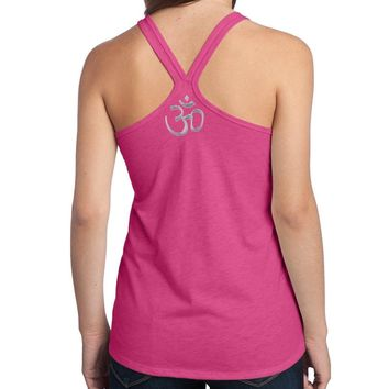 Yoga Clothing for You Ladies AUM Om Symbol T-back Tank Top