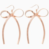 Herringbone Bow Earrings | Charming Charlie