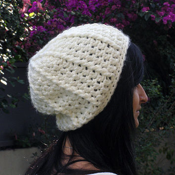 Crochet Hat - Slouchy Beanie Hat - Ready to ship - Choose your color!