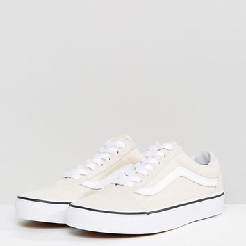 Vans Old Skool Trainers In Off White at asos.com