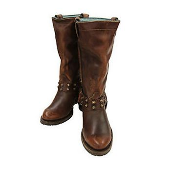 Corral Sierra Tan Harness & Studs Leather Boots C1186