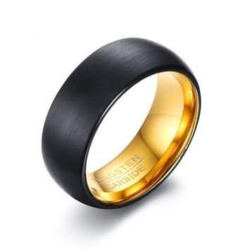 Tungsten Rings For Men Wedding Jewelry Engraved