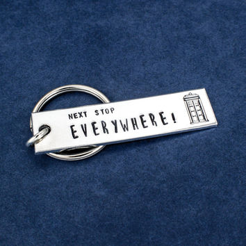 Doctor Who - Tardis - Next Stop Everywhere - Aluminum Key Chain