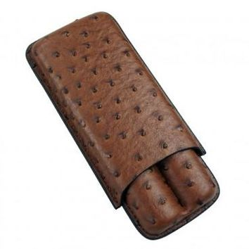 Brown and Black 2 Cigar Case