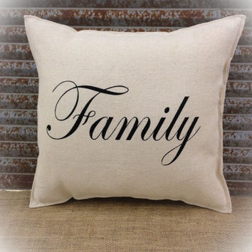 Decorative Pillow with Family on the front of the pillow. COMPLETE pillow