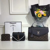 LV color mixed bag YSL chain bag LV card package