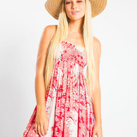 Tiare Hawaii Seaside Short Dress Coral Marine