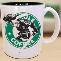 Link Legend of Zelda Hyrule Starbucks Video Game Retro Insipred Cartoon Geek Gamer Nerd Mug