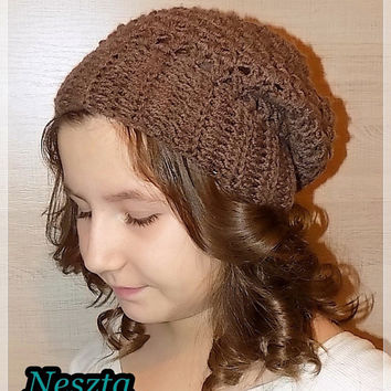 Crochet pattern, crochet slouchy hat pattern, crochet hat pattern, child, teen, adult sizes