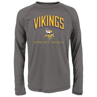 Minnesota Vikings Arch Heathered Tee - Boys 4-7, Size: