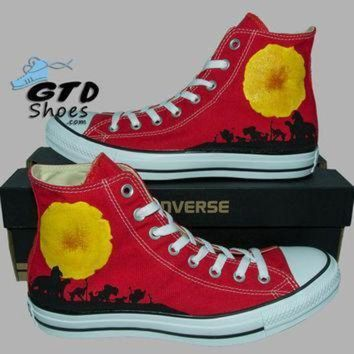 DCCK1IN hand painted converse hi the lion king simba mufasa timon pumbaa handpainted sho