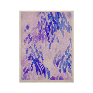 "Iris Lehnhardt ""Abstract Leaves III"" Blue Purple KESS Naturals Canvas (Frame not Included)"