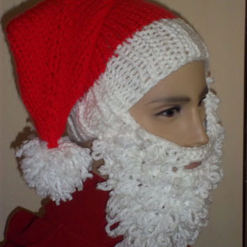 Bearded Beanie Santa Stocking Hat