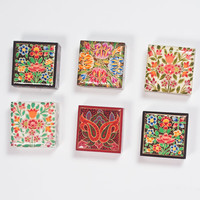 Mini Square Hand-Painted Box