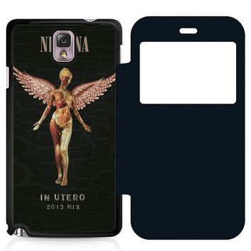 Nirvana In Utero Leather Wallet Flip Case Samsung Galaxy Note 3