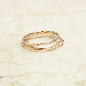 14K Gold Filled Hammered Ring, Gold Filled Stacking Ring, Thin Gold Ring, Gold Stacking Ring, Gold Filled Hammered Band, Gold Filled Band