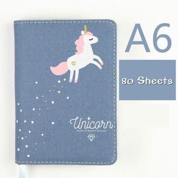 Unicorn Fabric-cover Notebook/Journal (variety of colors)